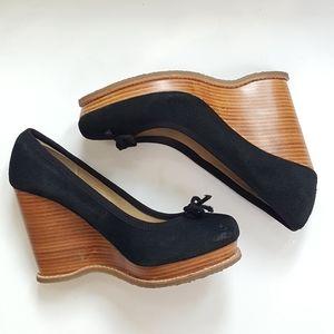 Steve Madden wedges, heels size 8.5M, black shoes.